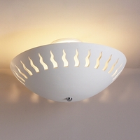 "18"" Dancing Flames Ceramic Ceiling Light"