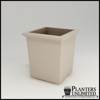 Tuscana Tapered Fiberglass Commercial Planter 18in.L x 18in.W x 18in.H