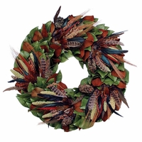 18in. Birds of a Feather Dried Wreath