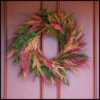18in. Cinnamon & Basil Dried and Preserved Wreath