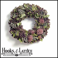 18in. Deluxe Mixed Herb Wreath w/ Green Wreath Hanger