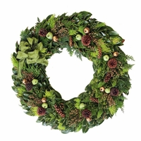 18in. Fresh Golden Christmas Wreath