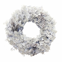 18in. Frosty Pinecone Lacquer Wreath