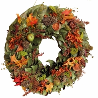 18in. Giving Thanks Dried Wreath