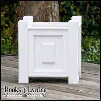 "18in. Raised Panel Premier PVC Planter w/ Feet|18"" W x 19"" H"