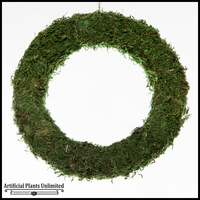 18in. Simple Moss Wreath