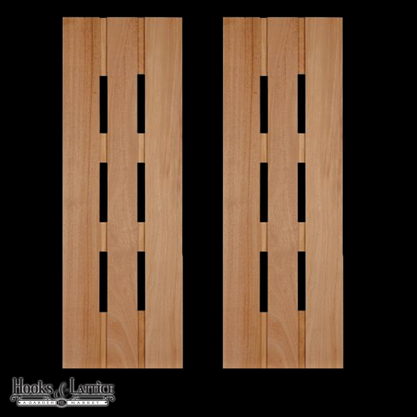 Wood Exterior Shutters | Made in USA | Hooks & Lattice