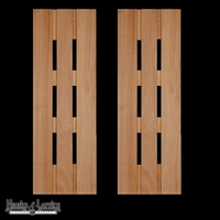 18in. Wide Abacab Design Cedar Exterior Shutter Pair