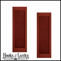 18in. Wide - Architectural Collection Fixed Louvered Composite  Fiberglass Shutters (pair)