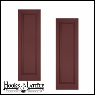 18in. Wide - Architectural Collection Raised Single Panel Shutters (pair)
