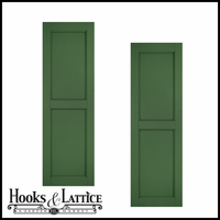 18in. Wide - Architectural Collection Raised Two Panel Composite Fiberglass Shutters (pair)
