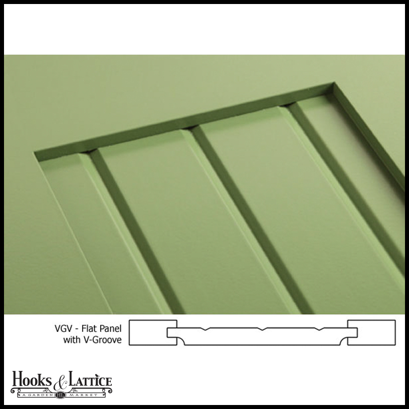 15in. Wide - Never-Fail V-Groove Flat Panel PVC Composite Exterior ...