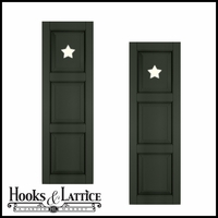 18in. Wide - Designer Collection Raised 3 Equal Panel Fiberglass Exterior Shutters (pair)