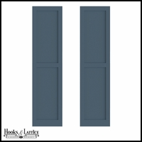 12in. Wide - Never-Fail Flat Panel PVC Composite Exterior Shutters (Pair)