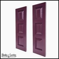 18in. Wide - Never-Fail Raised 3 Panel PVC Composite Exterior Shutters (Pair)