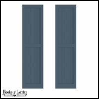 12in. Wide - Never-Fail V-Groove Flat Panel PVC Composite Exterior Shutters (Pair)