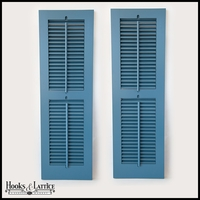 12in. Wide -Painted 2 Panel Exterior Plantation Shutters w/Operable Tilt Rod