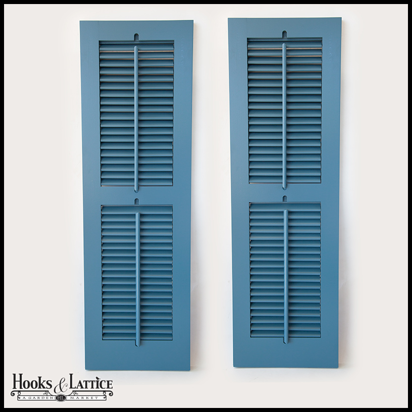 Operable plantation exterior shutters hooks lattice Aluminum exterior plantation shutters