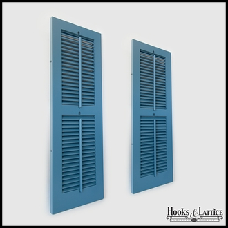 18in. Wide -Painted 2 Panel Exterior Plantation Shutters w/Operable Tilt Rod