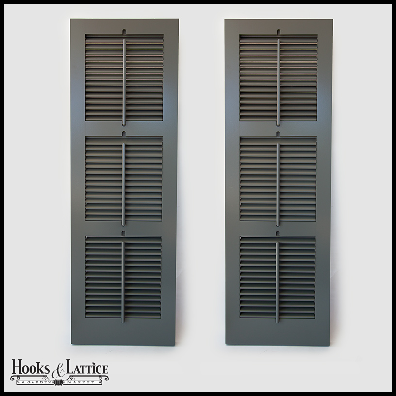 functional painted wood shutters outdoor hooks lattice