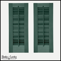 12in. Wide -Painted Single Panel Exterior Plantation Shutters w/Operable Tilt Rod