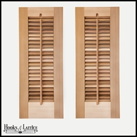 12in. Wide -Single Panel Exterior Plantation Shutters w/Operable Tilt Rod