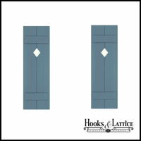 18in. Wide with 2 Boards - Classic Collection Composite Board & Batten Shutters (pair)