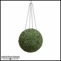 19in. Artificial Boxwood Hanging Sphere, Short Grain, Indoor Rated
