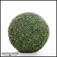19in. Artificial Boxwood Topiary Balls - Indoor