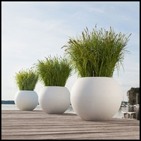 20in. Sanya Self-Watering Sphere Planter w/ Optional Caddy