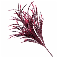 21in. Artificial Ribbon Grass Burgundy-Outdoor Rated