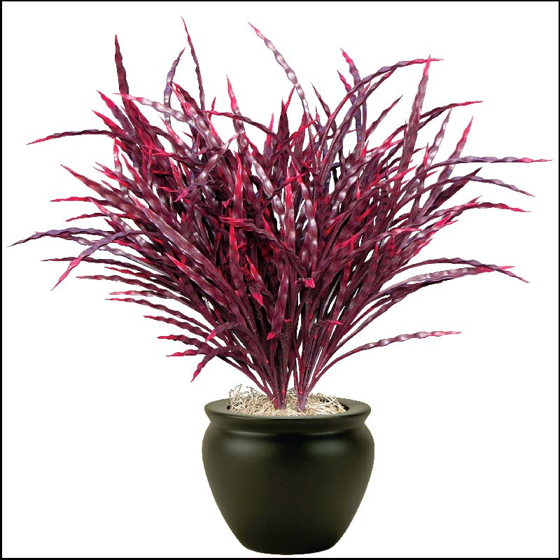 21in artificial ribbon grass burgundy outdoor rated click to enlarge workwithnaturefo