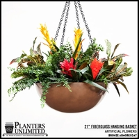 "21"" Bronze Hanging Basket"