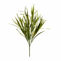 """21"""" Outdoor Rated Artificial Curl Tip Grass Bush"""