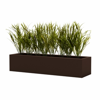 "21"" Outdoor Rated Artificial Curl Tip Grass Bush"
