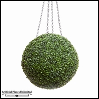 21in. Artificial Boxwood Hanging Sphere, Short Grain, Indoor Rated