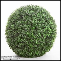 21in. Ornamental Boxwood Topiary Balls - Indoor