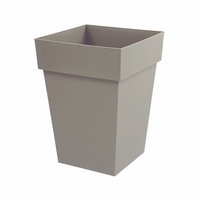 21in. Paris Tall Square Planter - Taupe