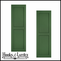 21in. Wide - Architectural Collection Raised Two Panel Composite Fiberglass Shutters (pair)
