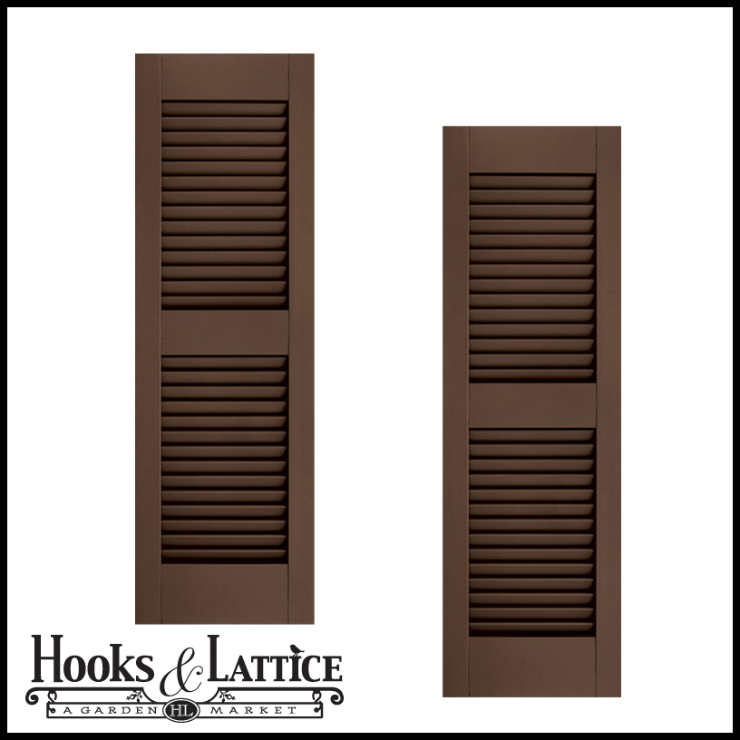 21in Wide W Center Rail Architectural Collection Fixed Louvered Composite Fiberglass