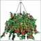 "22"" Hanging Basket with 7 Artificial Azalea Plants -3 Colors"