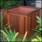 "22""L x 22""W x 17""H Palo Alto Redwood Planter with Heavyweight Plastic Liner"