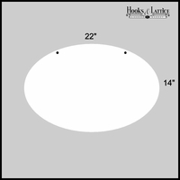 "22"" Oval Aluminum Sign Blank"