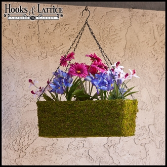22in. Ashton Moss Vine Hanging Window Basket w/ Chain
