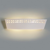 """23.5"""" Abstract Etchings Contemporary Vanity Light"""
