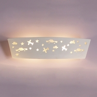 "23.5"" Airplanes & Automobiles Ceramic Bathbar Sconce"
