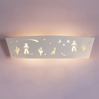 "23.5"" Cowboy & Coyote Children's Bedroom Sconce"