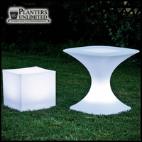 "23""L x 23""W x 22""H Livio Illuminated Table"
