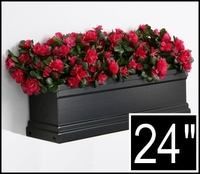 24in. Black Supreme Fiberglass Window Box