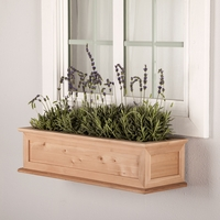 24in. Cedar Framed Cottage Window Box